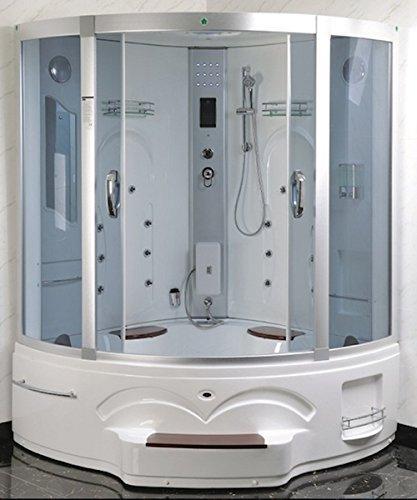 Bagno Italia Cabina idromassaggio 150x150 box doccia con vasca due posti doppia colonna idromassaggio radio cromoterapia I