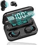 Écouteurs sans Fil Bluetooth 5.0 avec réduction de Bruit, écouteurs Sportifs avec IPX7 écouteurs stéréo étanches dans l'oreille Intégré HD Mic Casques pour/Android/iOS