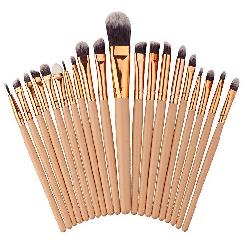 Emorias 20pcs/ensemble Superbe pinceau de maquillage Brosse cosmétique brillante Superbe brosse de fondation Belle brosse à paupières
