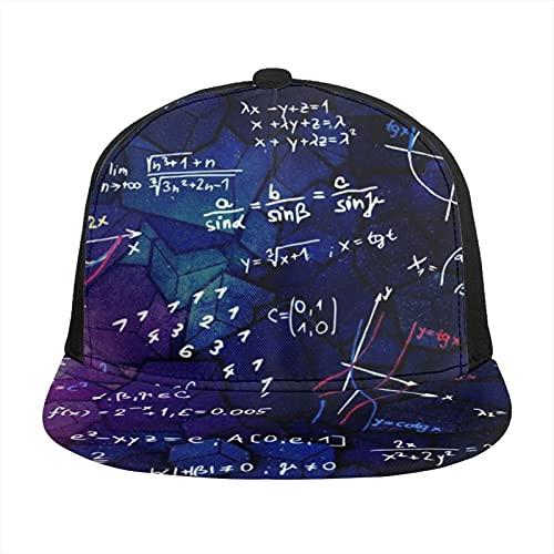 ZORIN 3D Flatbrim Gorra de béisbol Matemáticas Fórmula Blackboard Snapback Deportes Trucker Hat