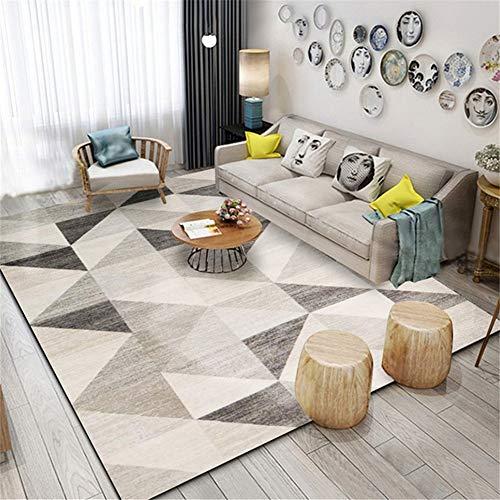 Alfombras Salon Triángulo geométrico 80x120cm Diseño Moderna Retro Geométrica Grande Tapete para Piso Dormitorio Decoración del Hogar Comedor Niños Tradicional Suaves Antideslizante Rugs D2355