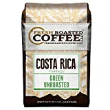 Fresh Roasted Coffee LLC, Green Unroasted Costa Rica Tarrazu Coffee Beans, 5 Pound Bag