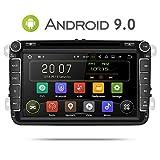 Aumume 8 Zoll Android 9.0 Autoradio für VW Golf Passat Polo Tiguan Jetta Skoda Fabia Yeti Seat mit Navi Unterstützt Autoplay Mirrorlink Bluetooth DAB (mit 16 GB Karte)