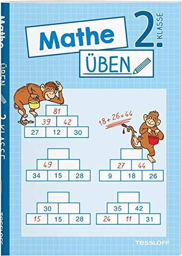 Mathe üben 2. Klasse: Zahlen bis 100, plus und minus, Einmaleins oder Geometrie