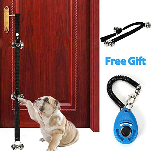 Etenli Dog Door Bells for Potty Training, Premium Adjustable Loud Crisp Three Levels DoorBells, Heavy Duty Nylon for House-Training, Housebreaking Dog Training Clicker with 1 Wrist Strap Free