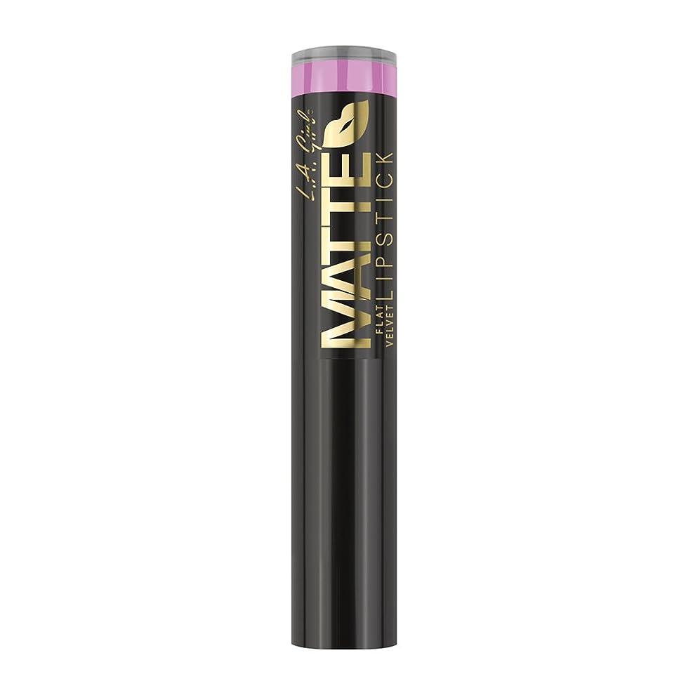 寛容異なる注文(3 Pack) L.A. GIRL Matte Flat Velvet Lipstick - Dare to Date (並行輸入品)