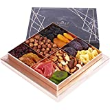 Cerez Pazari Dried Fruit and Nuts Gift Basket Black Elegant Box 1.32Lbs 10 Variety Holiday Healthy Snack
