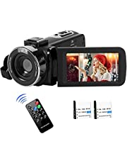 "Videocámara Cámara de Video 2.7K Full HD para Youtube 42MP Vlogging Cámara Zoom Digital 18X con Control Remoto Pantalla LCD de 3.0""2 Baterías"
