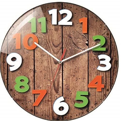 Technoline WT 7435Quartz Wall Clock Kreis Mehrfarbig Wanduhr (AA, Mehrfarbig, Kunststoff, 31cm