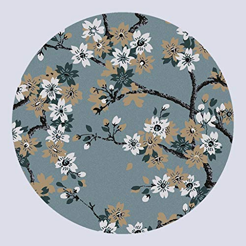 LFOZ Alfombra de Pintura China en Tinta Mezcla y combinación Americana Simple Salón de la Mesa de Centro de la Sala de Estar Alfombra Redonda (Color : E, Size : 160CM)