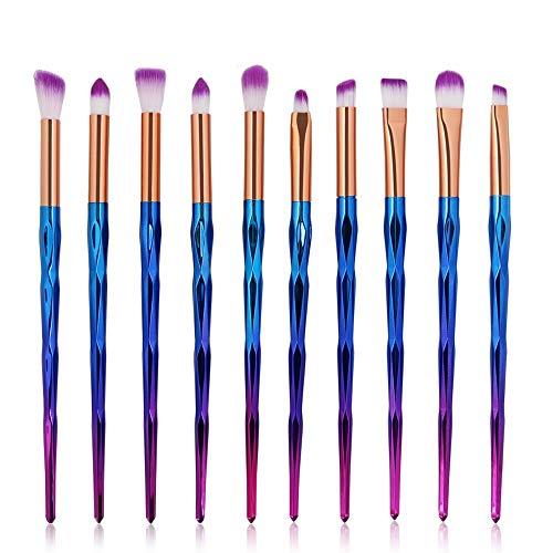 Pinceaux de maquillage set 10pcs Prime synthétique Fard à paupières Correcteur Œil Cosmétique brosse kit Sirène Doux (Color : 1, Size : Onesize)