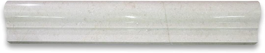 Crema Marfil Spanish Marble Chair Rail Bullnose Trim Molding 2 x 12 Polished