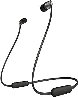 ソニー SONY ワイヤレスイヤホン WI-C310 : Bluetooth対応/最大15時間連続再生/マイク付き フラットケーブル採用 2019年モデル ブラック WI-C310 BC