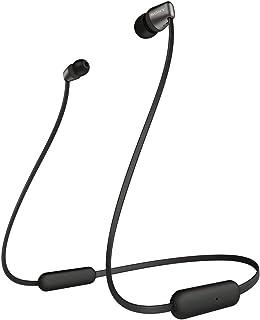 Sony 索尼 无线耳机 WI-C310 : 蓝牙连接 / 最长可连续播放15小时/带麦克风 采用扁平电缆 2019年款 黑色 WI-C310 BC