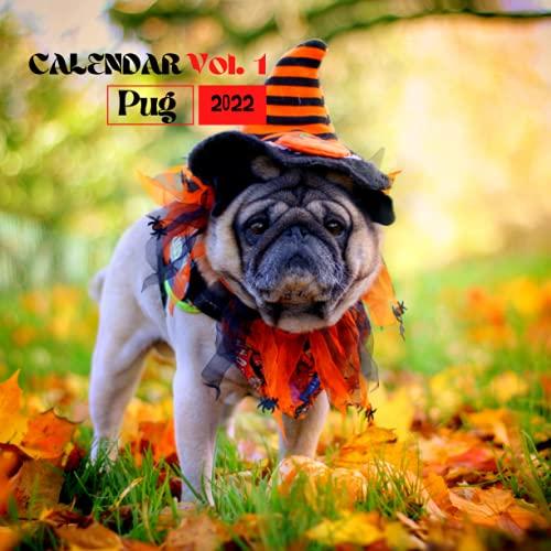 Pug calendar 2021-2022: September 2021-December 2022 16-Month Calendar, Square Photo Book Monthly-view Uk Calendar, Mini & Office Calendars, Funny Pug Dogs calendar 2022