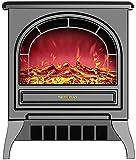 NaoSIn-Ni Estufa eléctrica Calentador de Chimenea, portátil Free Perse Electric Chimenea Insertar Estufa Calentador con...