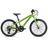 Orbea MX 20Speed 7velocidades Cilindro de aluminio para bicicleta MTB niños Kids Mountain Bike Verde, i031, color verde, tamaño talla única