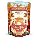Organic Pancake and Waffle Mix, Classic Recipe by Birch Benders, Whole Grain, Non-GMO, Just Add Water, 16oz