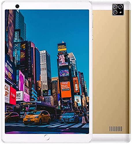 Fringe Trim 1g Ram + 16g ROM Android Tablet Pc Dual Sim 4g-LTE WiFi WiFi Phabet Phabet HD Pc Pc Estación De Carga Inteligente(Color:Oro)