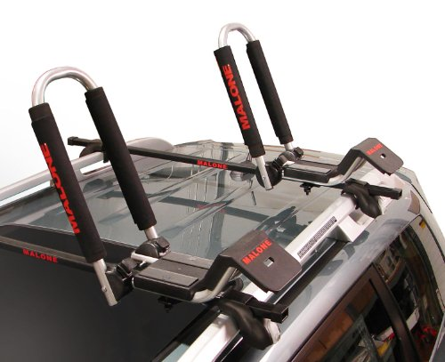Malone Downloader Folding J-Style Universal Car Rack Kayak Carrier with Bow and Stern Lines