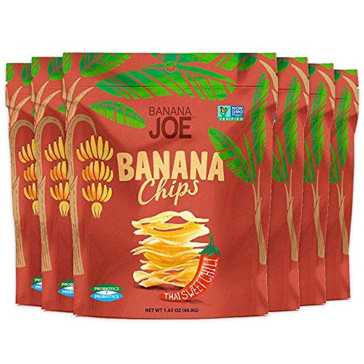 Healthy Snack | Banana Chips | Thai Sweet Chili | Gluten Free | High Vitamin Absorption | Prebiotic | Probiotic | Banana Joe