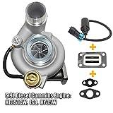 HE351CW Turbo ISB HY35W Turbocharger w/Gasket Wastegate Control Solenoid for 04-07 Dodge Ram 2500 3500 Cummins 5.9L Diesel, Part# 4036835, 4037001 MSQ-CD