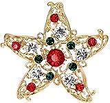 FOPUYTQABG Broche exquisito pines, novedoso, hermoso y de moda Año Nuevo Navidad zapatos de Papá Noel, carruaje, pasadores de diamantes de imitación, adornos como