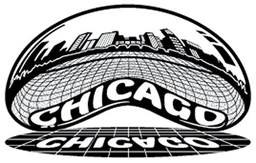 Chicago Skyline Sticker   Reflective Chrome Mirror Shiny Decal   Chicago Bean View   Apply to Mug Phone Laptop Water Bottle Decal Cooler Bumper   Cloud Gate Millennium Park Windy City Flag Sports 312