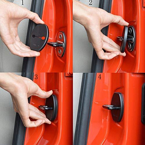 BESTEU 4pcs Coche Puerta Bloqueo Protector Cubierta para Skoda Audi Volkswagen Nuevo Jetta Tiguan Polo Porsche