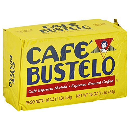 Café Bustelo Coffee Espresso Ground Coffee Brick, 16 Ounces