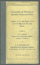 Volume, yield, and stand tables for tree species in the Lake States (Technical Bulletin / University of Minnesota, Experiment Station)