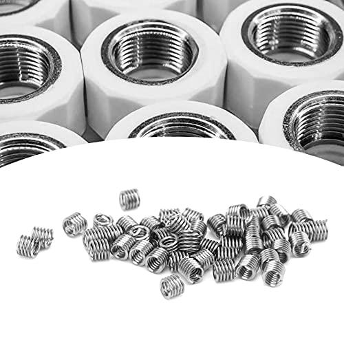 Enchufe de Rosca, Inserto de reparación de roscas, 50 Piezas, Unidad de inserción de roscas de Alambre 2-56 para Suministros industriales(1.5D)