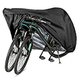 GES Bike Cover for 2 or 3 Bikes, XL Waterproof Outdoor Bicycle...
