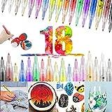 Acrylstifte für Steine Bemalen Wasserfest 18 Farben Acrylfarben Stifte 0.7mm Permanent Marker Set für Steine, Holz, Scrapbooking, Kinder, Papier, Glas, DIY, Leinwand, Metall, Glasmalerei, Keramik
