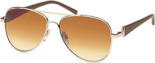 styleBREAKER Aviateurs féminins avec verres teintés, lunettes de soleil avec branches laquées et strass 09020053