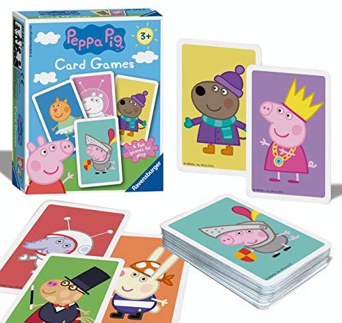 Ravensburger Peppa Pig Kartenspiel für Kinder ab 3 Jahren und 4 spannende Favoriten Snap, Happy Families, Swap oder Paare 20346