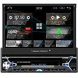 Tristan Auron BT1D7022A Android 10.0 Autoradio I 7'' Touchscreen ausfahrbar I CD DVD GPS Navi 32GB Bluetooth Freisprecheinrichtung I USB SD OBD DAB Plus I 1 DIN