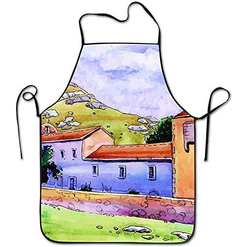 N\A Kloster in den Bergen Langlebige Maschinenwäsche Verstellbare Komfortable Küche Super Lock Pocket