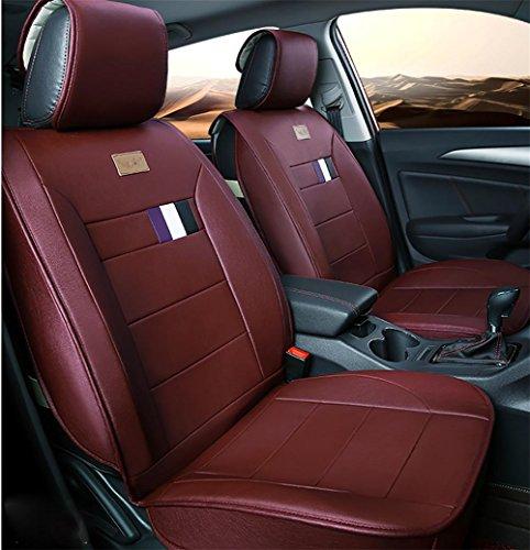 AMYMGLL Tout cuir universel de voiture Coussin Set Deluxe (9set) Édition Cinq Cushion Général Car Cover Four Seasons Universal 4 Couleurs Sélectionner , #33