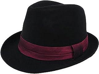 (エイト) 8(eight)シンプルなネクタイ生地中折れハット黒帽子