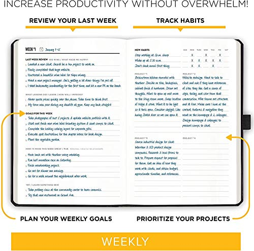 """Product Image 5: Get Stuff Done Planner for Productivity – 13 Week Undated Planner, 8.3"""" x 5.5"""" – Monthly, Weekly And Daily Agenda – Best For Full Focus And Achieving Goals – Personal Organizer for Men & Women"""
