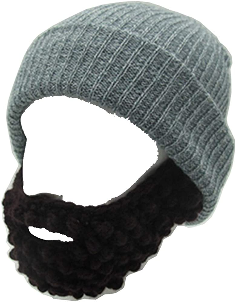 YEKEYI Max 61% OFF Unisex Wacky Beard Hat Manufacturer direct delivery Knit Wi Funny Halloween Cap Beanie