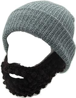 YEKEYI Unisex Wacky Beard Hat Knit Funny Beanie Halloween Cap Wind Mask