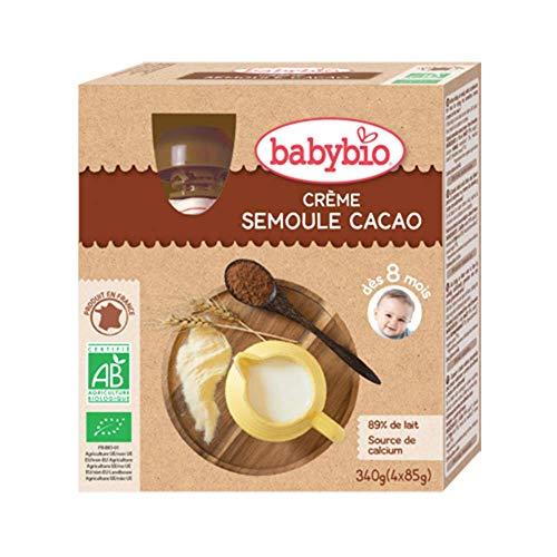 Babybio Gourde Crème Semoule Cacao 8+ Mois 340 g