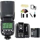 Godox V860II-S TTL 2.4G High Speed Sync 1/8000s GN60 Li-ion Battery Camera Flash speedlite light + Godox X1T-S Wireless Remote Flash Trigger Transmitter compatible for Sony cameras