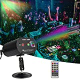 AZIMOM LED Party light DJ Disco Light Stage Laser Strobe light 36 Patterns 3Lens Sound Activated led Projector Light for Party Christmas Halloween Birthday Wedding Karaoke KTV Club Indoor Decoration