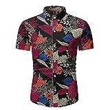 Hawaiana Camisa Hombre Moderna Urbana Moda Vintage Estampado Hombre Camisa Verano Ajustado Elástico Cárdigan Hombre Manga Corta Casual Vacaciones Hombre Playa Shirt