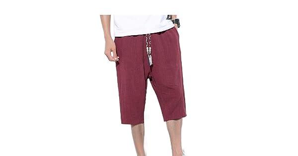SportsX Mens Harem Pants Solid-Colored Premium 3//4 Pants Palazzo Trousers