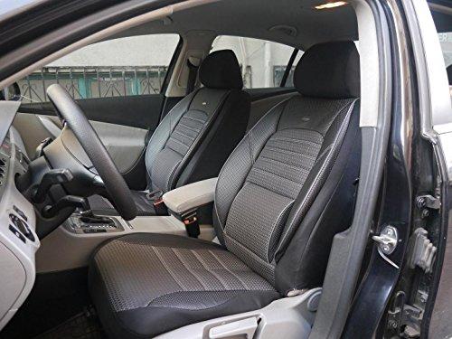 Sitzbezüge k-maniac für Audi A3 8P Sportback | Universal Schwarz Grau | Autositzbezüge Set Komplett | Autozubehör Innenraum | No. 1 | Kfz Tuning | Sitzbezug | Sitzschoner