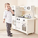Teamson Classic Collection Kitchen, Wood, Weiß